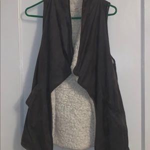 Grey Furry Vest